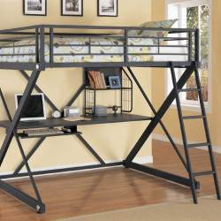 Z Bedroom Full Loft Bed With Study Bunk Belfort Furniture Loft Bed