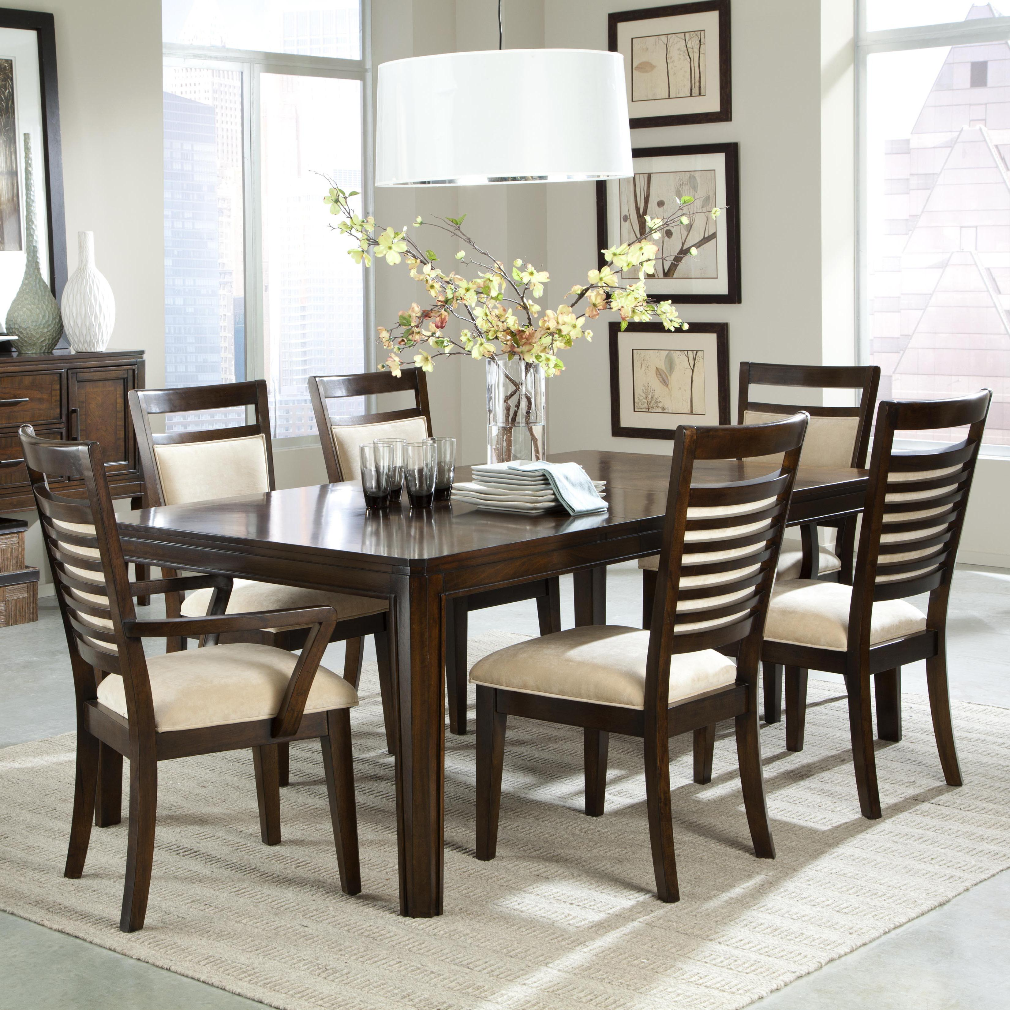 kitchen table chairs Standard Furniture Avion 7 Piece Dining Table Set Item Number
