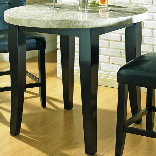 bar top kitchen tables Steve Silver Monarch Marble Veneer Top Round Leg Table