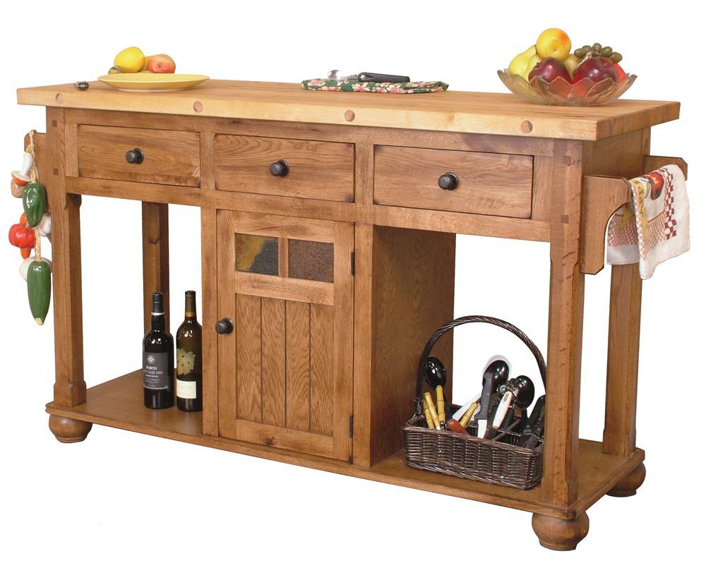 kitchen island tables Sunny Designs Sedona Kitchen Island Table Item Number RO