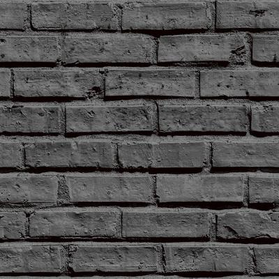 Arthouse Black Brick Effect Unpasted Wallpaper-623007 - The Home Depot