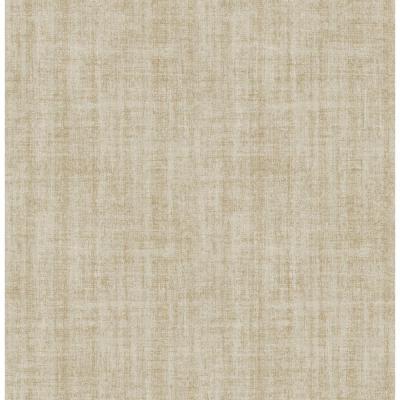 NuWallpaper 30.75 sq. ft. Ramie Linen Peel and Stick Wallpaper-NU2496HD2 - The Home Depot