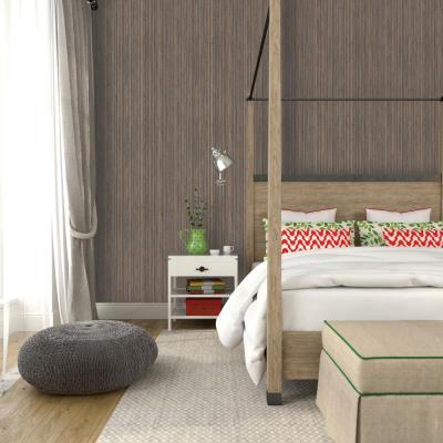 Tempaper Bronze Grasscloth Wallpaper-GR505 - The Home Depot