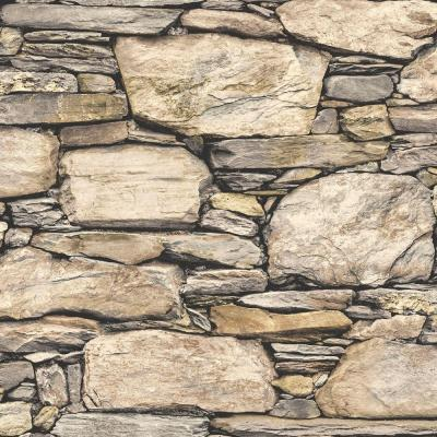 NuWallpaper Hadrian Stone Wall Peel and Stick Wallpaper Sample-NU2065SAM - The Home Depot