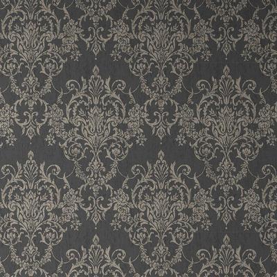 Graham & Brown Empress Victorian Damask Black/Gold Removable Wallpaper-103028 - The Home Depot