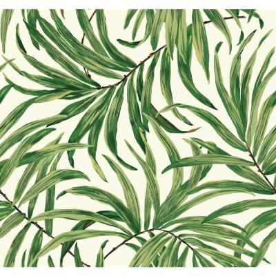 York Wallcoverings Tropics Bali Leaves Wallpaper-AT7050 - The Home Depot
