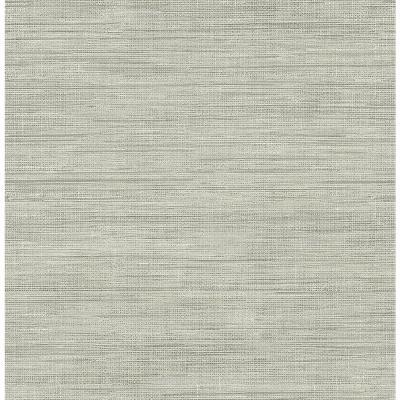 Brewster Island Grey Faux Grasscloth Wallpaper-FD23285 ...