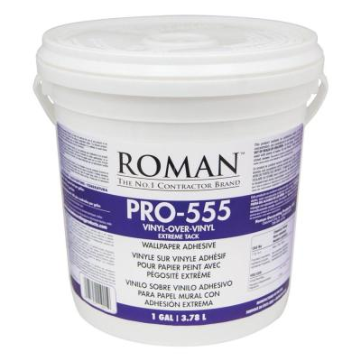 ROMAN PRO-555 1 gal. Extreme Tack Wallpaper Adhesive-011901 - The Home Depot