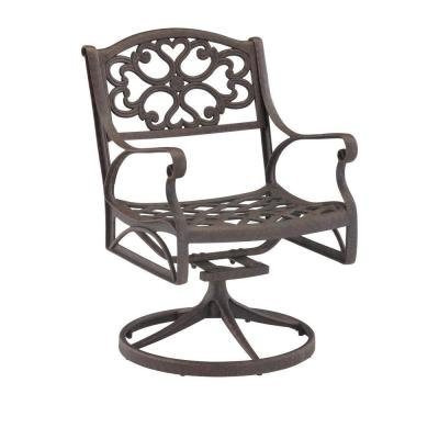 Home Styles Biscayne Bronze Swivel Patio Dining Chair-5555-53 - The Home Depot