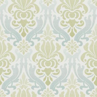 NuWallpaper Multi Color Blue and Green Nouveau Damask Wallpaper-NU1656 - The Home Depot