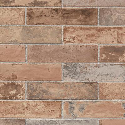 Red Realistic Pre-Pasted Brick Wallpaper-LL29534 - The Home Depot