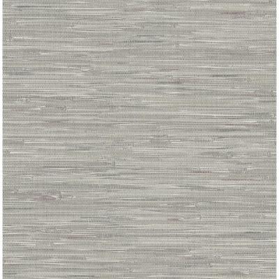 Brewster Natalie Grey Faux Grasscloth Wallpaper-2704-22268 - The Home Depot