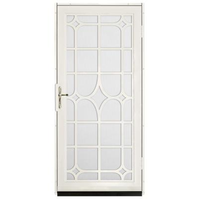 Unique Home Designs 36 in. x 80 in. Lexington Almond Surface Mount Steel Security Door with ...