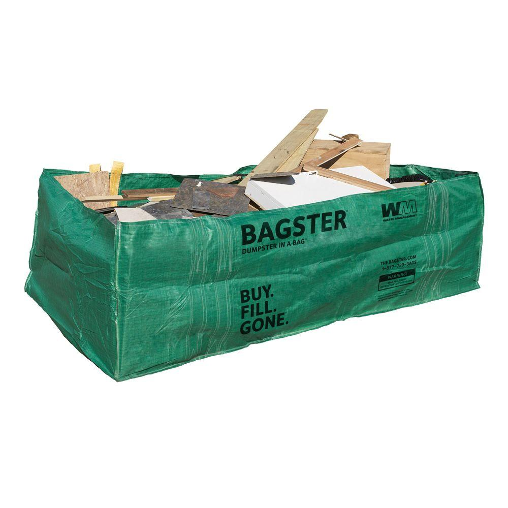WM Bagster Dumpster in a Bag 775 658   The Home Depot WM Bagster Dumpster in a Bag