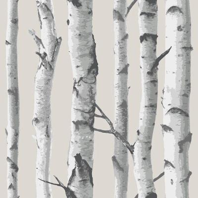 NuWallpaper Multi Color Birch Tree Wallpaper-NU1650 - The Home Depot