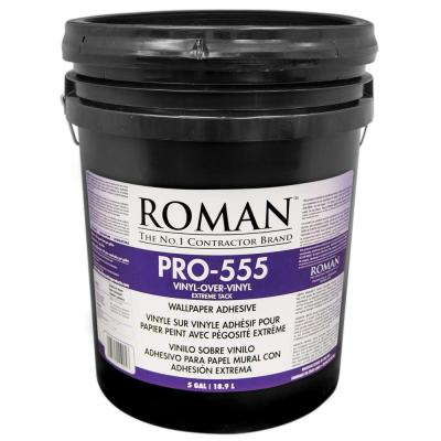 ROMAN PRO-555 5 gal. Extreme Tack Wallpaper Adhesive-011905 - The Home Depot