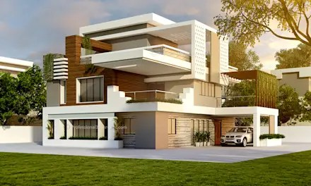 Modern Style House Design Ideas   Pictures   Homify 3D Exterior House Design  Single family home by ThePro3DStudio