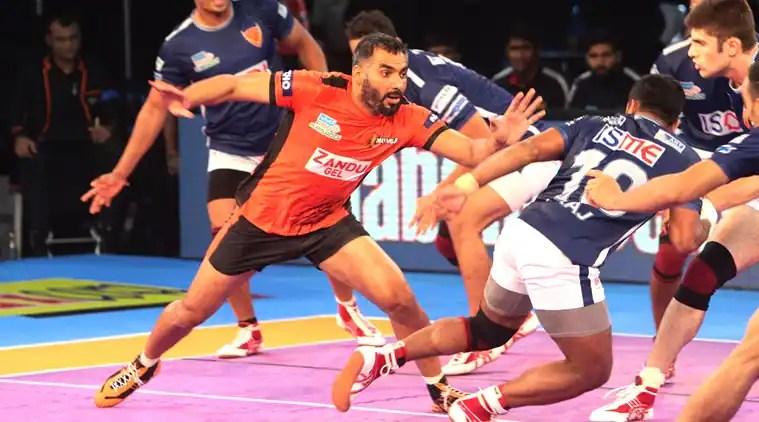 U Mumba beat Dabang Delhi 30-28: Match highlights | The Indian Express
