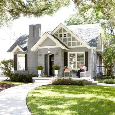 if by blue you mean grey {exterior house paint ideas} - the space between