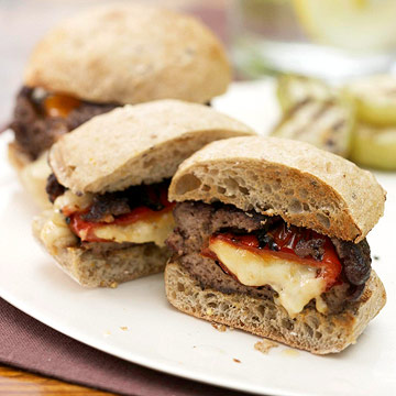 Pepper-Stuffed Burgers | Diabetic Living Online