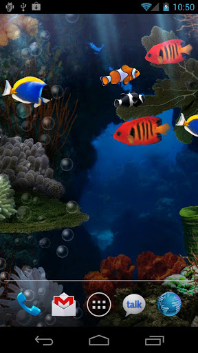 Aquarium live wallpaper for Android. Aquarium free download for tablet and phone.