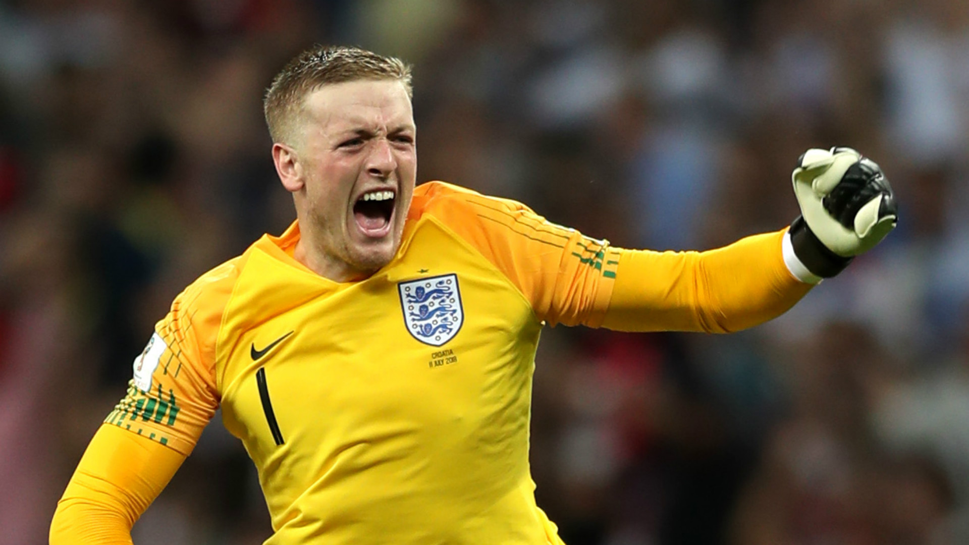 England vs Spain  Everton keeper Jordan Pickford vows not to do an     Jordan Pickford England 2018