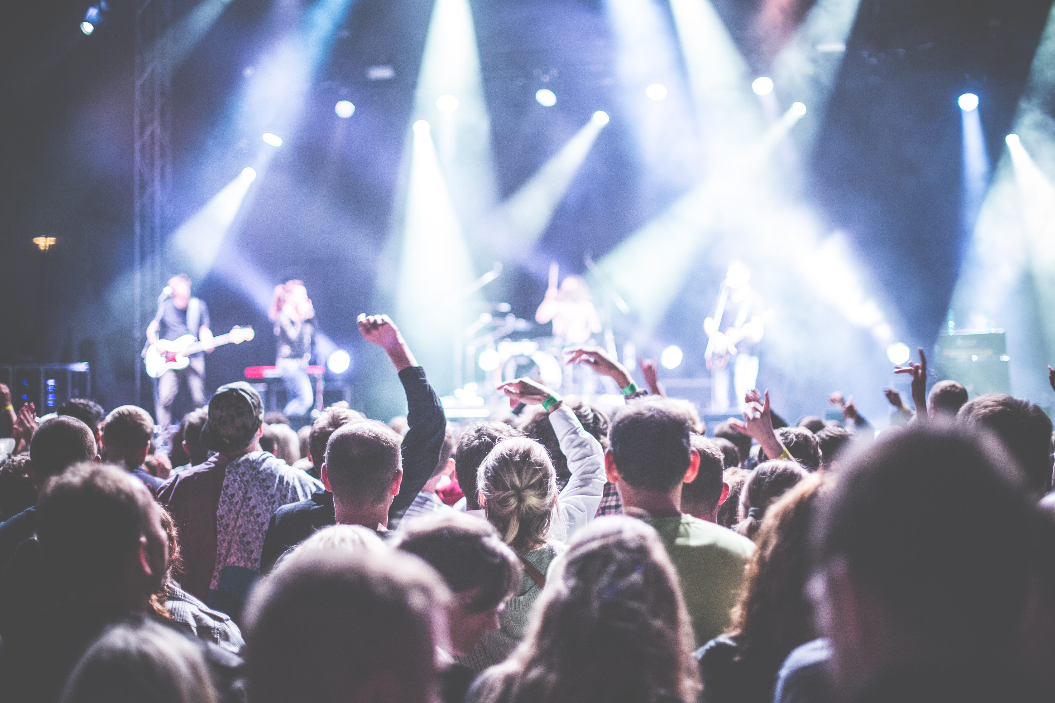 250  Engaging Concert Photos      Pexels      Free Stock Photos Crowd in Front of People Playing Musical Instrument during Nighttime