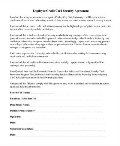 Sample Security Agreement Form - 10+ Free Documents in Doc, PDF