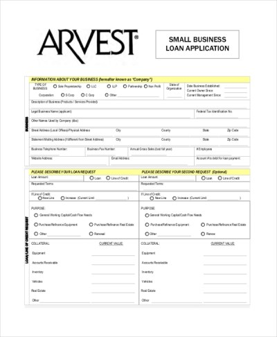 9+ Sample Loan Application Forms - Sample, Example, Format