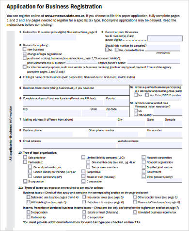 Sample Business Registration Forms - 7+ Free Documents in Word, PDF