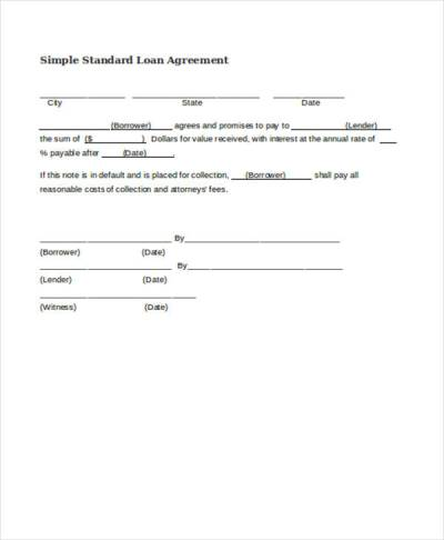 Free Loan Agreement Form