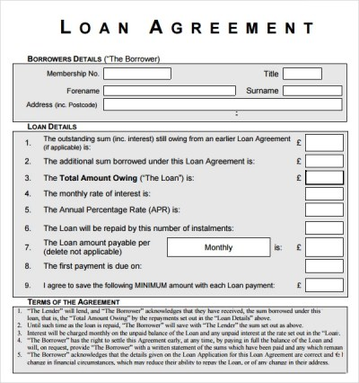 Sample Loan Agreement - 12+ Free Documents Download in PDF, Word
