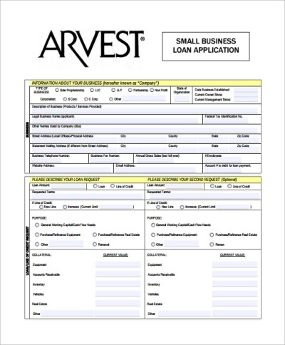 8+ Business Application Forms | Sample Templates