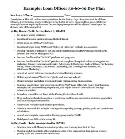 Sample 90 Day Plan - 14+ Documents In PDF, Word