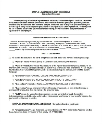 Sample Business Loan Agreement - 6+ Free Documents Download in Word, PDF