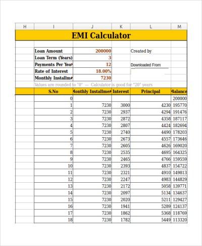 9+ Car Loan Calculator Templates   Sample Templates