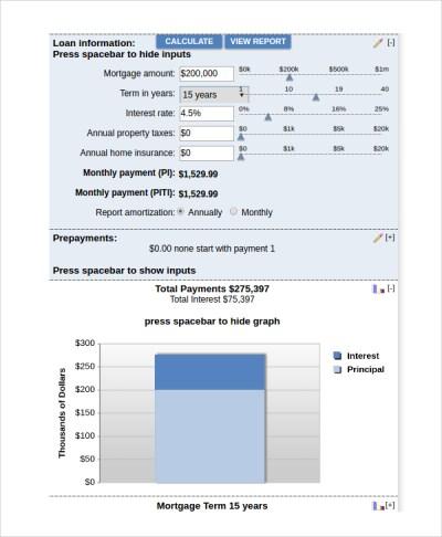 8+ Bank Rate Mortgage Calculator | Sample Templates