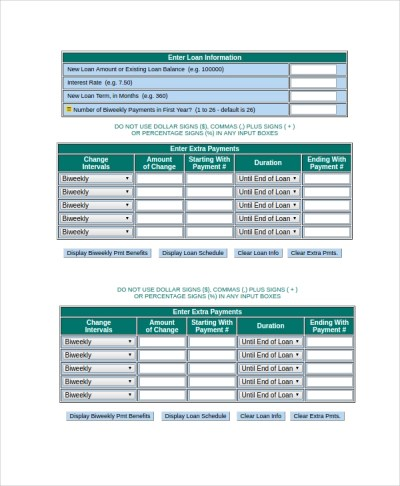 Sample Mortgage Payoff Calculator - 7+ Free Documents Download in PDF