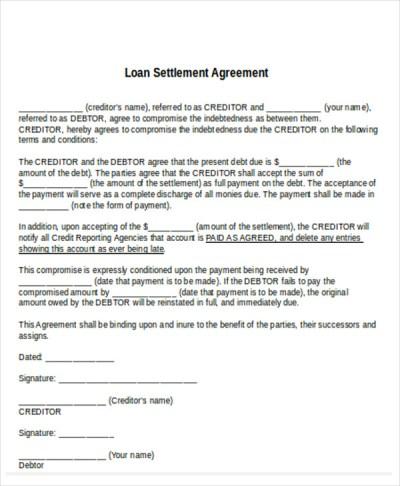 11+ Settlement Agreement Samples - Word, PDF