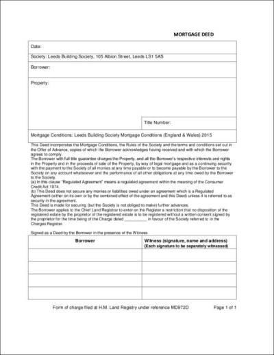 4+ Mortgage Deed Samples & Templates - PDF