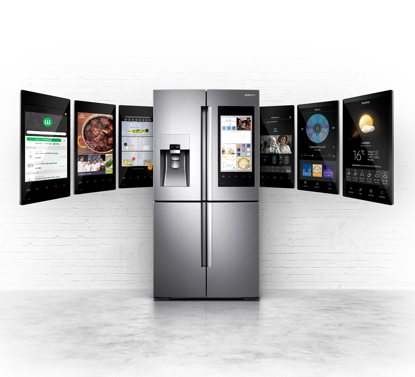 Samsung Family Hub™ Multi-door Fridge Freezer, 550L | Samsung UK