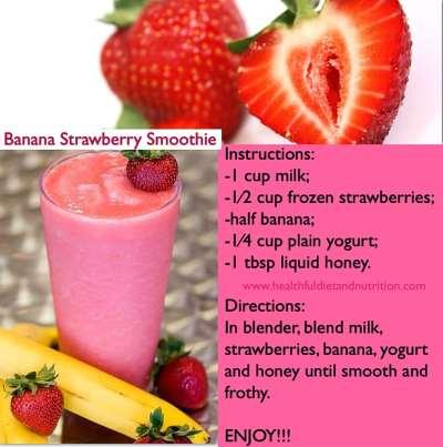 Strawberry Banana Smoothie (Medium) from McDonald's | Nurtrition & Price
