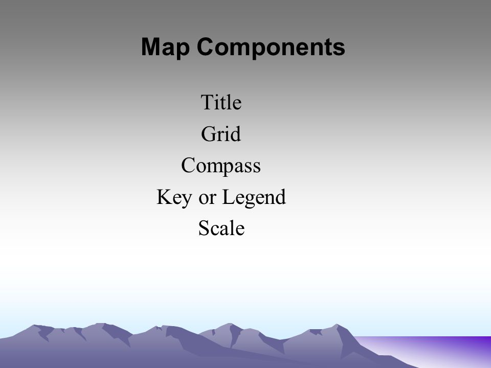 Starter August 27 Grab a World Map from the front table AND a     15 Title Grid Compass Key or Legend Scale Map Components