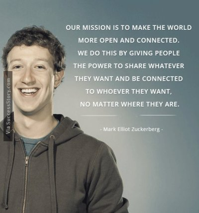 Our mission is to make the world more open