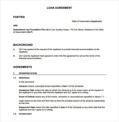 28+ Loan Contract Templates – Pages, Word, Docs   Free & Premium Templates