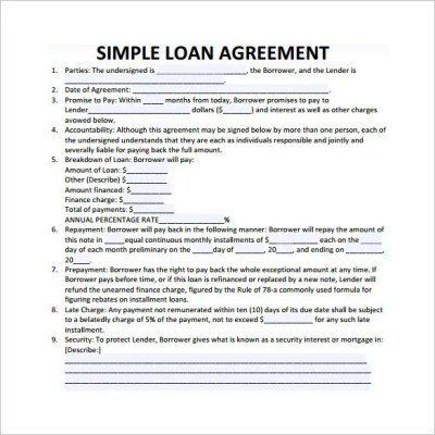 30+ Loan Contract Templates – Pages, Word, Docs | Free & Premium Templates