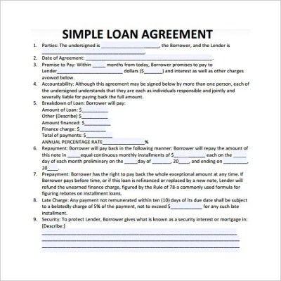 Loan Contract Template – 20+ Examples in Word, PDF | Free & Premium Templates