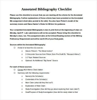 Annotated Bibliography Generator Template - 16+ Examples in PDF, Word | Free & Premium Templates