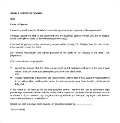 7+ Legal Letter Templates - Free Sample, Example Format Download! | Free & Premium Templates