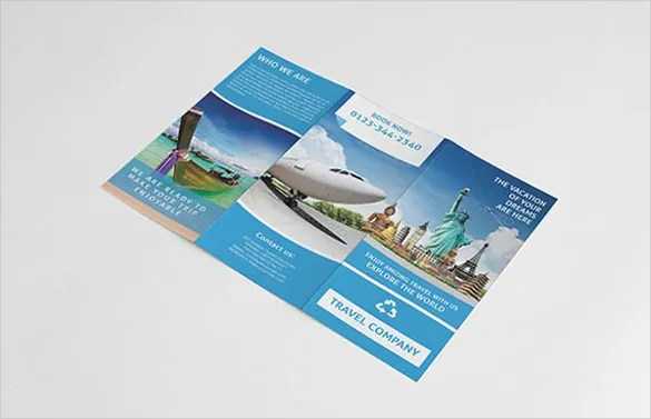 45  Travel Brochure Templates   PSD  AI   Free   Premium Templates Travel Brochure Template With Newyork Images